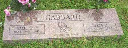WALKER GABBARD, ELIZA J - Madison County, Arkansas | ELIZA J WALKER GABBARD - Arkansas Gravestone Photos