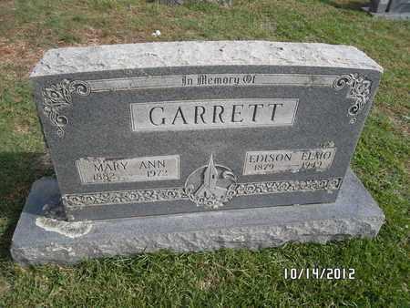 GARRETT, EDISON ELMO - Madison County, Arkansas | EDISON ELMO GARRETT - Arkansas Gravestone Photos