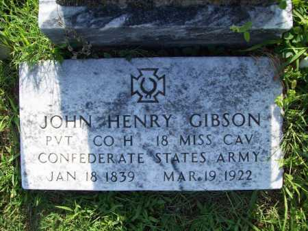 GIBSON (VETERAN CSA), JOHN HENRY - Madison County, Arkansas | JOHN HENRY GIBSON (VETERAN CSA) - Arkansas Gravestone Photos
