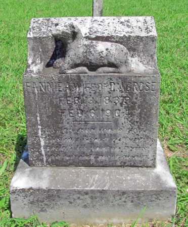 "GROSE, FRANCES ANN ""FANNIE"" - Madison County, Arkansas   FRANCES ANN ""FANNIE"" GROSE - Arkansas Gravestone Photos"
