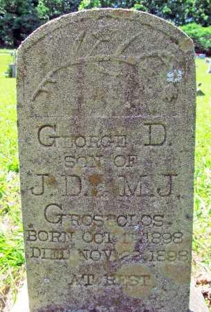 GROSECLOS, GEORGE D. - Madison County, Arkansas | GEORGE D. GROSECLOS - Arkansas Gravestone Photos