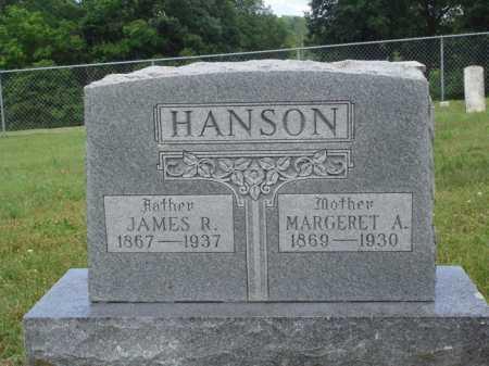 HANSON, JAMES R. - Madison County, Arkansas | JAMES R. HANSON - Arkansas Gravestone Photos