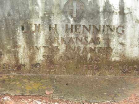 HENNING (VETERAN SAW), LUI H - Madison County, Arkansas | LUI H HENNING (VETERAN SAW) - Arkansas Gravestone Photos