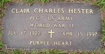HESTER (VETERAN WWII), CLAIR CHARLES - Madison County, Arkansas | CLAIR CHARLES HESTER (VETERAN WWII) - Arkansas Gravestone Photos