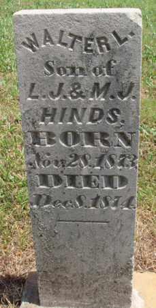 HINDS, WALTER L. - Madison County, Arkansas | WALTER L. HINDS - Arkansas Gravestone Photos