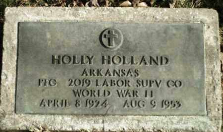 HOLLAND  (VETERAN WWII), HOLLY - Madison County, Arkansas | HOLLY HOLLAND  (VETERAN WWII) - Arkansas Gravestone Photos