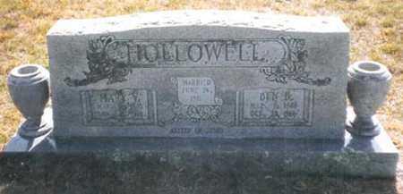HOLLOWELL, MARY VIANIA - Madison County, Arkansas | MARY VIANIA HOLLOWELL - Arkansas Gravestone Photos