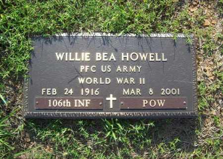 HOWELL (VETERAN WWII, POW), WILLIE BEA - Madison County, Arkansas | WILLIE BEA HOWELL (VETERAN WWII, POW) - Arkansas Gravestone Photos