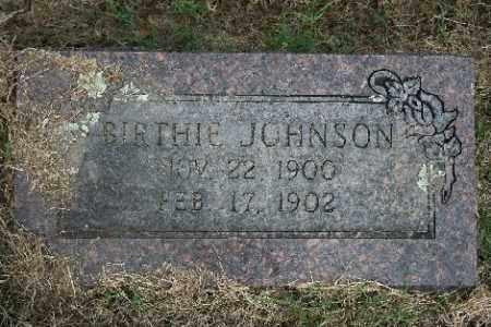 JOHNSON, BIRTHIE - Madison County, Arkansas | BIRTHIE JOHNSON - Arkansas Gravestone Photos