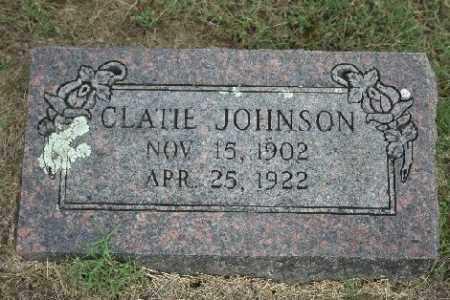 JOHNSON, CLATIE - Madison County, Arkansas | CLATIE JOHNSON - Arkansas Gravestone Photos