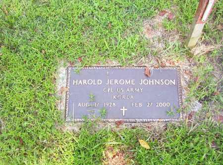 JOHNSON  (VETERAN KOR), HAROLD JEROME - Madison County, Arkansas | HAROLD JEROME JOHNSON  (VETERAN KOR) - Arkansas Gravestone Photos