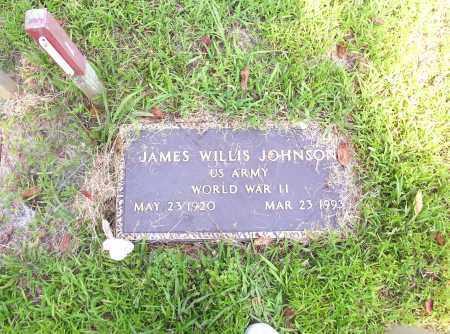 JOHNSON  (VETERAN WWII), JAMES WILLIS - Madison County, Arkansas   JAMES WILLIS JOHNSON  (VETERAN WWII) - Arkansas Gravestone Photos