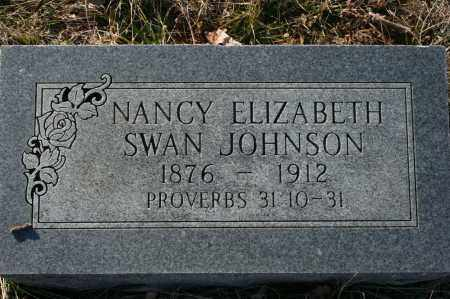 SWAN JOHNSON, NANCY ELIZABETH - Madison County, Arkansas | NANCY ELIZABETH SWAN JOHNSON - Arkansas Gravestone Photos