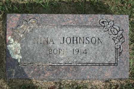 JOHNSON, NINA - Madison County, Arkansas | NINA JOHNSON - Arkansas Gravestone Photos