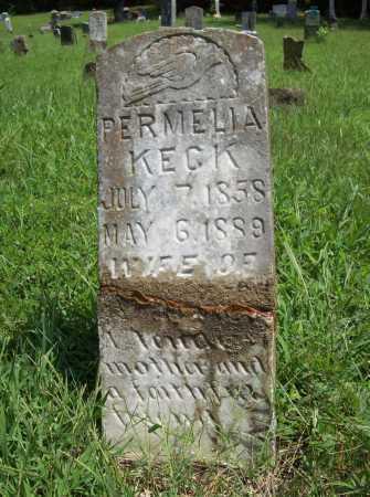 KECK, PERMELIA - Madison County, Arkansas | PERMELIA KECK - Arkansas Gravestone Photos