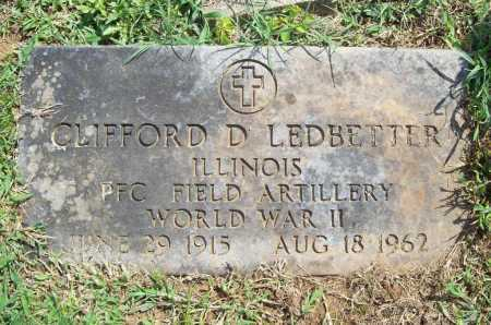 LEDBETTER (VETERAN WWII), CLIFFORD D. - Madison County, Arkansas | CLIFFORD D. LEDBETTER (VETERAN WWII) - Arkansas Gravestone Photos