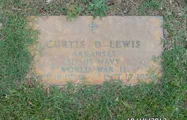 LEWIS (VETERAN WWII), CURTIS D - Madison County, Arkansas | CURTIS D LEWIS (VETERAN WWII) - Arkansas Gravestone Photos