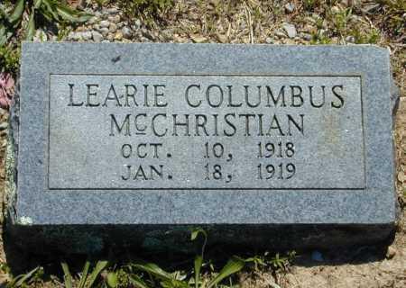 MCCHRISTIAN, LEARIE COLUMBUS - Madison County, Arkansas | LEARIE COLUMBUS MCCHRISTIAN - Arkansas Gravestone Photos