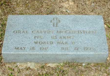 MCCHRISTIAN (VETERAN WWII), ORAL CALVIN - Madison County, Arkansas   ORAL CALVIN MCCHRISTIAN (VETERAN WWII) - Arkansas Gravestone Photos