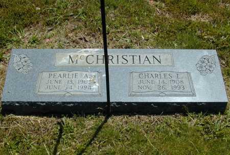 MCCHRISTIAN, PEARLIE A. - Madison County, Arkansas | PEARLIE A. MCCHRISTIAN - Arkansas Gravestone Photos