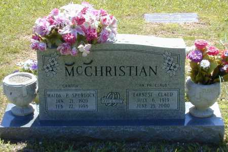 MCCHRISTIAN, MAIDA PAULINE - Madison County, Arkansas   MAIDA PAULINE MCCHRISTIAN - Arkansas Gravestone Photos