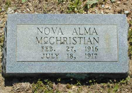 MCCHRISTIAN, NOVA ALMA - Madison County, Arkansas | NOVA ALMA MCCHRISTIAN - Arkansas Gravestone Photos