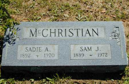 MCCHRISTIAN, SADIE A. - Madison County, Arkansas | SADIE A. MCCHRISTIAN - Arkansas Gravestone Photos