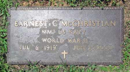 MCCHRISTIAN (VETERAN WWII), EARNEST CLAUD - Madison County, Arkansas   EARNEST CLAUD MCCHRISTIAN (VETERAN WWII) - Arkansas Gravestone Photos