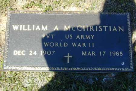 MCCHRISTIAN (VETERAN WWII), WILLIAM ALBERT - Madison County, Arkansas | WILLIAM ALBERT MCCHRISTIAN (VETERAN WWII) - Arkansas Gravestone Photos