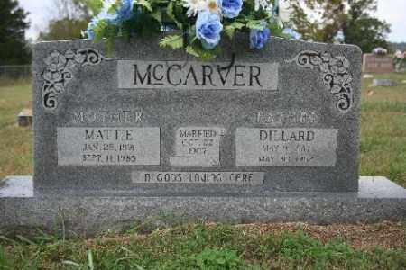 MCCARVER, DILLARD - Madison County, Arkansas | DILLARD MCCARVER - Arkansas Gravestone Photos