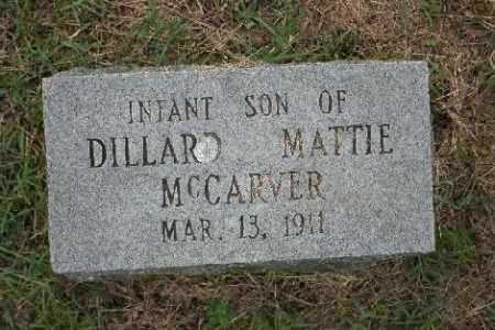 MCCARVER, INFANT SON - Madison County, Arkansas | INFANT SON MCCARVER - Arkansas Gravestone Photos