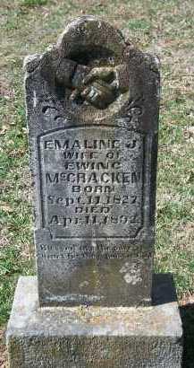 MCCRACKEN, EMALINE JANE - Madison County, Arkansas | EMALINE JANE MCCRACKEN - Arkansas Gravestone Photos