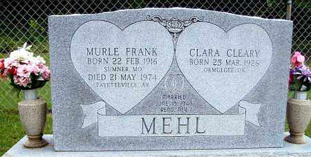 MEHL, MURLE FRANK - Madison County, Arkansas | MURLE FRANK MEHL - Arkansas Gravestone Photos