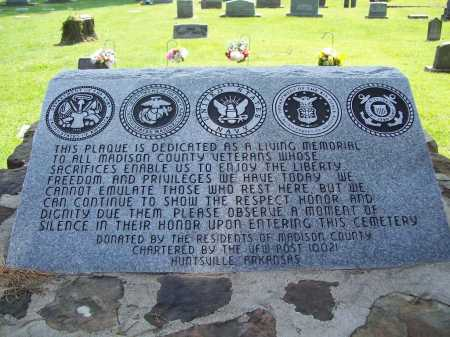 *VETERAN'S MEMORIAL,  - Madison County, Arkansas |  *VETERAN'S MEMORIAL - Arkansas Gravestone Photos