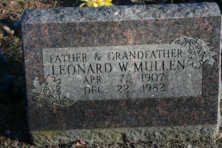 MULLEN, LEONARD W. - Madison County, Arkansas | LEONARD W. MULLEN - Arkansas Gravestone Photos
