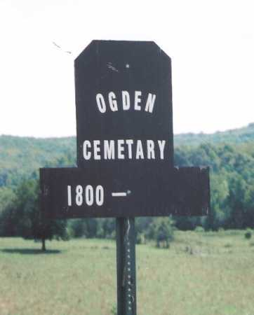 *OGDEN CEMETERY ROAD SIGN,  - Madison County, Arkansas |  *OGDEN CEMETERY ROAD SIGN - Arkansas Gravestone Photos