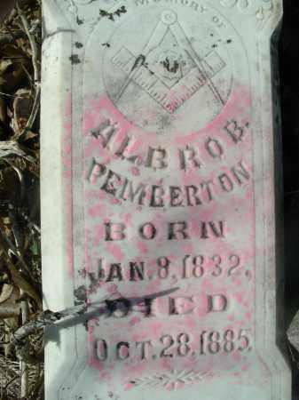 PEMBERTON, ALBRO B. - Madison County, Arkansas | ALBRO B. PEMBERTON - Arkansas Gravestone Photos