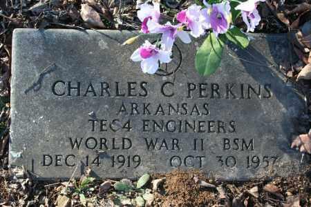 PERKINS (VETERAN WWII), CHARLES C - Madison County, Arkansas   CHARLES C PERKINS (VETERAN WWII) - Arkansas Gravestone Photos