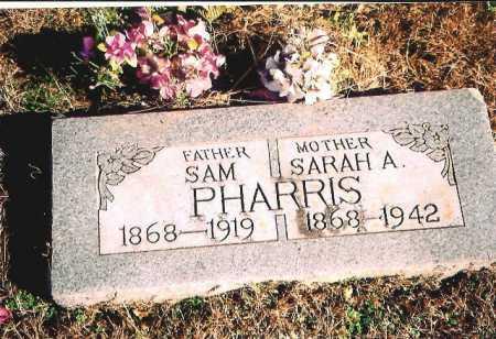 PHARRIS, SARAH A. - Madison County, Arkansas | SARAH A. PHARRIS - Arkansas Gravestone Photos