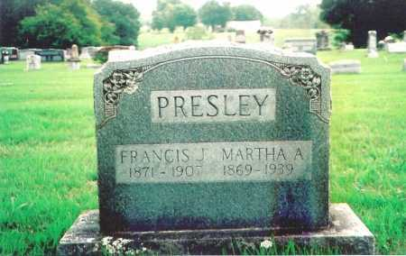 PRESLEY, FRANCIS J. - Madison County, Arkansas | FRANCIS J. PRESLEY - Arkansas Gravestone Photos