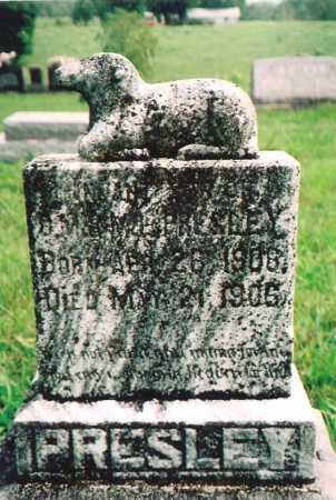 PRESLEY, INFANT SON - Madison County, Arkansas   INFANT SON PRESLEY - Arkansas Gravestone Photos