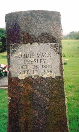 PRESLEY, ORDIE MACK - Madison County, Arkansas | ORDIE MACK PRESLEY - Arkansas Gravestone Photos
