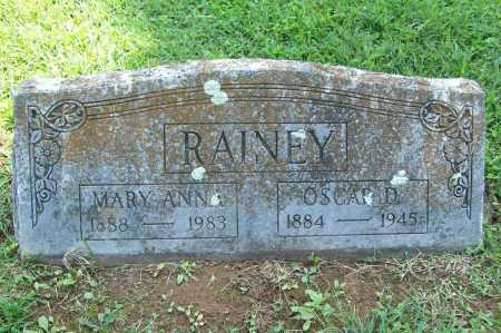 RAINEY, OSCAR D. - Madison County, Arkansas | OSCAR D. RAINEY - Arkansas Gravestone Photos