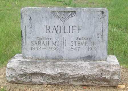 RATLIFF, SARAH M. - Madison County, Arkansas | SARAH M. RATLIFF - Arkansas Gravestone Photos