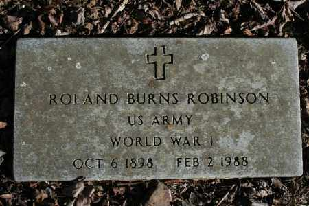 ROBINSON (VETERAN WWI), ROLAND BURNS - Madison County, Arkansas | ROLAND BURNS ROBINSON (VETERAN WWI) - Arkansas Gravestone Photos