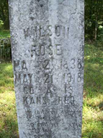 ROSE (VETERAN UNION), WILSON (CLOSEUP) - Madison County, Arkansas | WILSON (CLOSEUP) ROSE (VETERAN UNION) - Arkansas Gravestone Photos