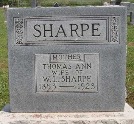 SHARPE, THOMAS ANN - Madison County, Arkansas   THOMAS ANN SHARPE - Arkansas Gravestone Photos