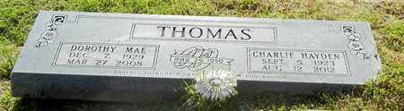 THOMAS, CHARLIE HAYDEN - Madison County, Arkansas | CHARLIE HAYDEN THOMAS - Arkansas Gravestone Photos