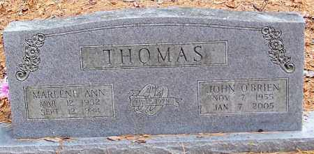 THOMAS, JOHN O'BRIEN - Madison County, Arkansas | JOHN O'BRIEN THOMAS - Arkansas Gravestone Photos