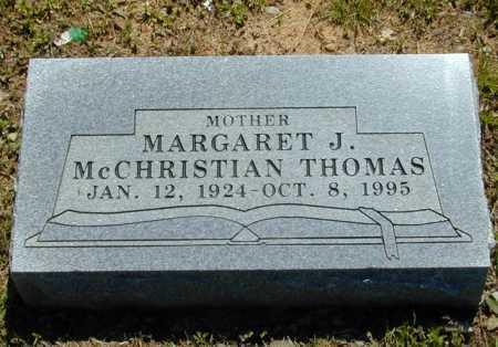 MCCHRISTIAN THOMAS, MARGARET J. - Madison County, Arkansas | MARGARET J. MCCHRISTIAN THOMAS - Arkansas Gravestone Photos
